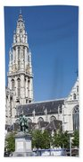 Our Lady Cathedral Antwerp Beach Towel