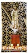 Our Lady Of Fatima Beach Towel