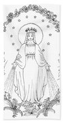 Our Lady Of Grace Beach Towel