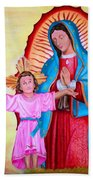 Our Lady Of Guadalupe And Child Beach Towel