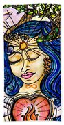 Our Lady Of Self Blessing Beach Towel