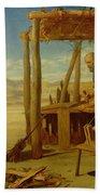 Our Saviour Subject To His Parents At Nazareth Beach Towel by John Rogers Herbert