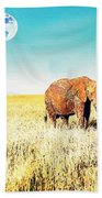 Out In The Serengeti Beach Towel