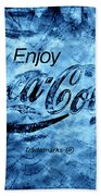 Out Of This World Coca Cola Blues Beach Towel