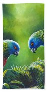 Out On A Limb - St. Lucia Parrots Beach Towel