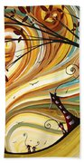 Out West Original Madart Painting Beach Towel