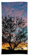 Outback Sunset Pano Beach Towel