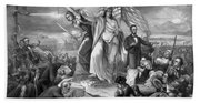 Outbreak Of Rebellion In The United States 1861 Beach Towel