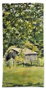 Outbuilding At Oriskatach New York Beach Towel
