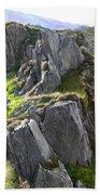 Outcrop In Snowdonia Beach Towel