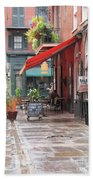 Outdoor Cafe Beach Towel