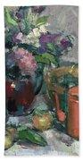 Outdoor Lilacs Beach Towel