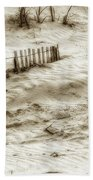 Outer Banks Beach Sand Fence  Beach Towel