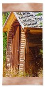 Outhouse 1 Beach Towel
