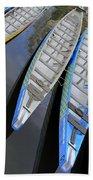 Outrigger Canoe Boats Beach Towel