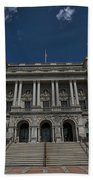 Outside The Library Of Congress Beach Towel