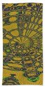 Oval Abstract Maple Leaf  Beach Towel