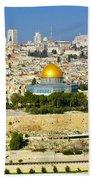 Over Jerusalem Beach Towel