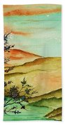 Over Orange Hills Beach Towel