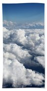 Over The Heavenly Clouds Beach Towel