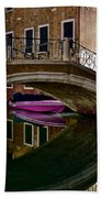 Over The River And Through The Buildings Beach Towel