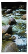 Over The Boulders - Mossman Gorge, Far North Queensland, Australia Beach Towel