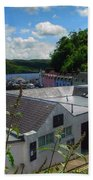Over The Rooftops At Portree Beach Towel