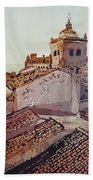 Over The Rooftops, Caceres Beach Towel