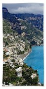 Overall View Of Part Of The Amalfi Coast In Italy Beach Towel