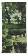 Overgrown Pond Beach Towel