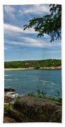 Overlooking Sand Beach Beach Towel