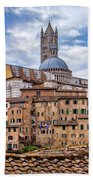 Overlooking Siena And The Duomo Beach Towel