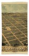 Owatonna, Minnesota 1870 Beach Towel
