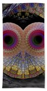 Owl Abstract Beach Towel