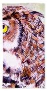 Owl Beach Towel