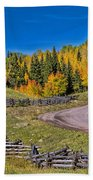 Owl Creek Pass Road Beach Towel