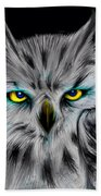 Owl Eyes  Beach Towel