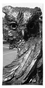 Owl Sculpture Grand Junction Co Beach Towel