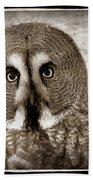 Owls Eyes -vintage Series Beach Towel