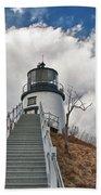 Owl's Head Lighthouse 4764 Beach Towel