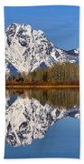 Oxbow Snake River Reflections Beach Towel