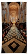 Oxford Cathedral Nave Beach Towel