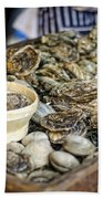 Oysters At The Market Beach Towel