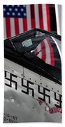 P 51 Mustang Beach Towel
