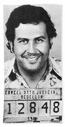 Pablo Escobar Mugshot Beach Towel