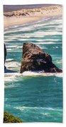 Pacific Ocean Shore Beach Towel