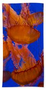 Pacific Sea Nettle Cluster 1 Beach Towel
