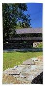 Packard Hill Covered Bridge - Lebanon New Hampshire  Beach Towel