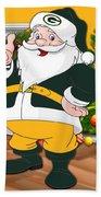 Packers Santa Claus Beach Towel