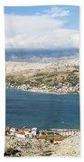 Pag Old Town In Croatia Beach Towel